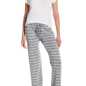 Olive & Oak Grey and White Striped Soft Hacci Pant